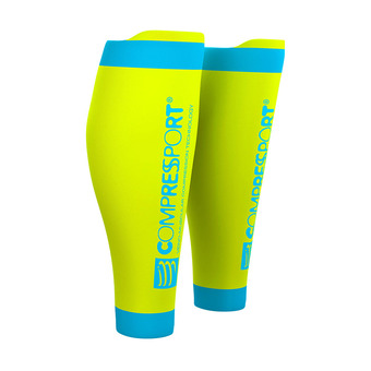 Compressport R2 V2 - Calf Sleeves - yellow fluo