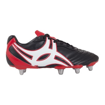 Chaussure rugby homme SIDESTEP XV LO noir/rouge/blanc