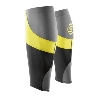 Manchons de compression ESSENTIALS black/citron