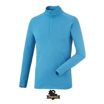 Camiseta térmica hombre CARLINE WOOL BLEND 200 electric blue