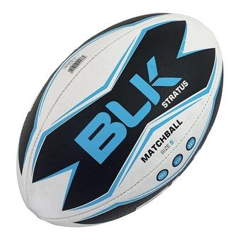 Ballon de rugby STRATUS blanc/noir/bleu T.5