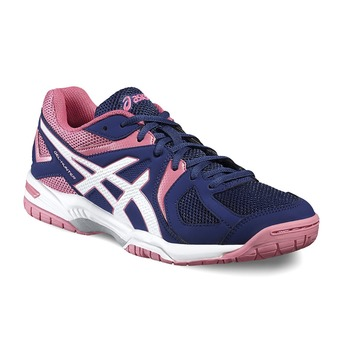 Chaussures squash/badminton femme GEL-HUNTER 3 indigo blue/white/azalea pink