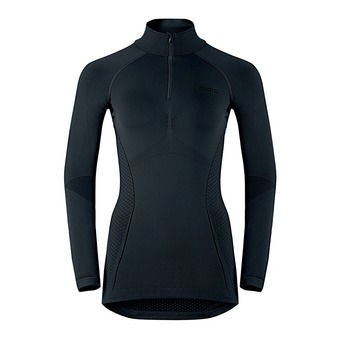Camiseta térmica mujer EVOLUTION WARM black/odlo graphite grey