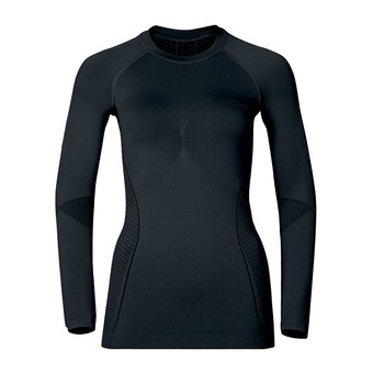 Camiseta térmica mujer EVOLUTION WARM black/odlo graphite grey