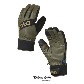 Guantes de esquí hombre FACTORY WINTER dark brush