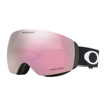 Oakley FLIGHT DECK XM - Gafas de esquí matte black/prizm hi pink iridium