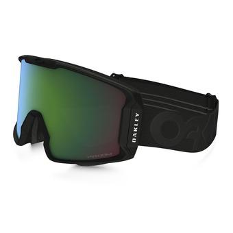 Oakley LINE MINER - Masque ski factory pilot blackout/prizm jade iridium