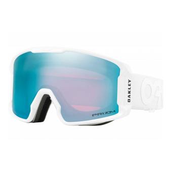 Oakley LINE MINER - Gafas de esquí factory pilot whiteout/prizm sapphire iridium