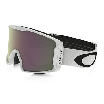 Oakley LINE MINER - Gafas de esquí matte white/prizm hi pink iridium