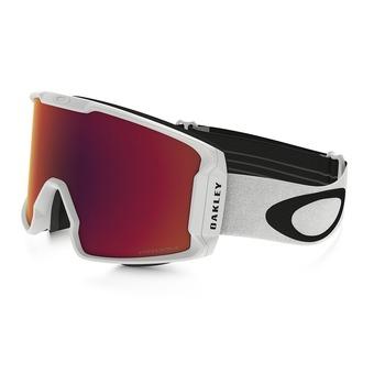 Oakley LINE MINER - Ski Goggles - matt white/prizm torch iridium