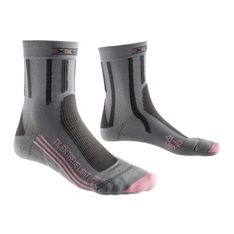 Calcetines de senderismo mujer TREK EXTREM LIGHT grey/pink