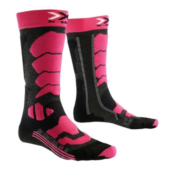 X-Socks CONTROL 2.0 - Calcetines mujer anthracite/fushia