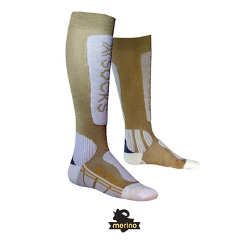 Calcetines de esquí mujer SKI METAL gold/white