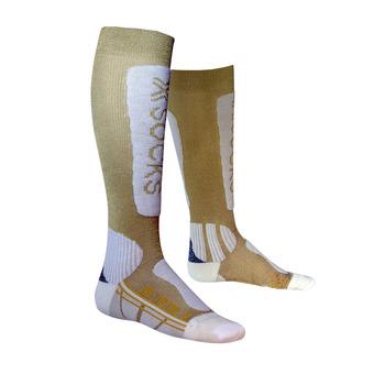 X-Socks SKI METAL - Chaussettes Femme gold/white