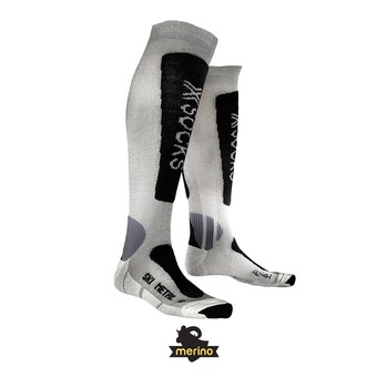 X-Socks SKI METAL - Chaussettes silver/anthracite