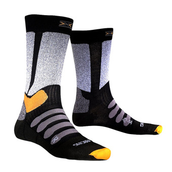 X-Socks XC RACING - Chaussettes black/grey melange