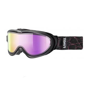 Masque de ski COMANCHE TO black mat/mirror pink+écran supplémentaire