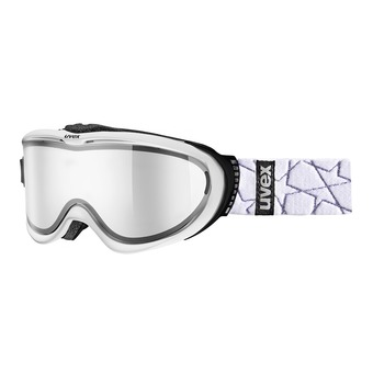 Gafas de esquí COMANCHE TO white mat/mirror silver/lasergold lite clear