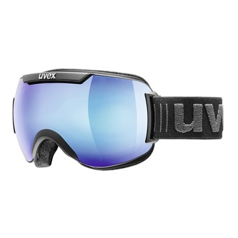 Uvex DOWNHILL 2000 FM - Gafas de esquí black mat/mirror blue clear