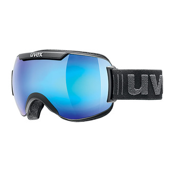Uvex DOWNHILL 2000 FM - Ski Goggles -  black mat/mirror blue clear