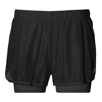 Short 2 en 1 mujer 3.5 IN performance black