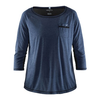 Camiseta mujer HABIT depth jaspeado/negro