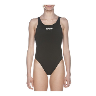 Arena SOLID SWIM TECH HIGH - 1-Piece Swimsuit - Women's - black/white