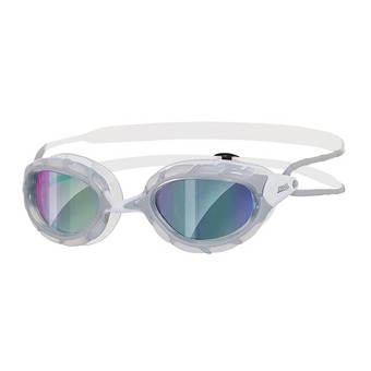 Zoggs PREDATOR MIRROIR - Gafas de natación grey/white/mirror