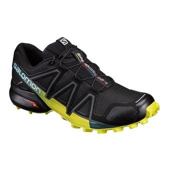 Salomon SPEEDCROSS 4 - Trail Shoes - Men's - black/everglade/spring