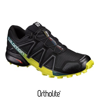 Salomon SPEEDCROSS 4 - Chaussures trail Homme black/everglade/spring