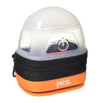 Etui de protection-diffusion pour lampes frontales Petzl NOCTILIGHT noir/orange