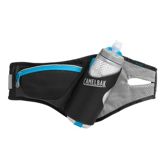 Ceinture d'hydratation DELANEY black/atomic blue + 1 gourde