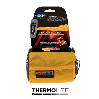 Sea To Summit THERMOLITE REACTOR - Drap sac de couchage jaune