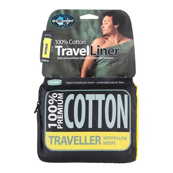 Sleeping Bag Liner - COTON TRAVELLER eucalyptus green