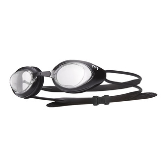 Tyr BLACK HAWK RACING - Lunettes de natation clear/mateblack/black