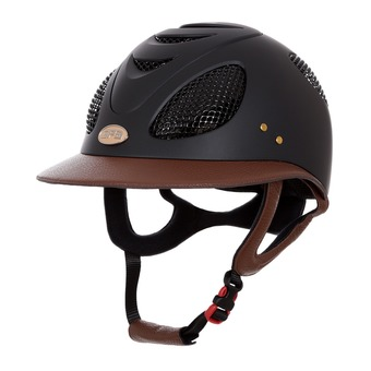 Casque femme FIRST LADY LEATHER 2X black/chestnut