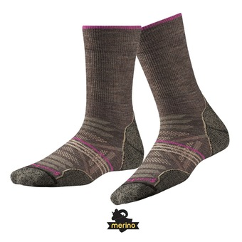 Chaussettes femme PHD OUTDOOR LIGHT CREW taupe