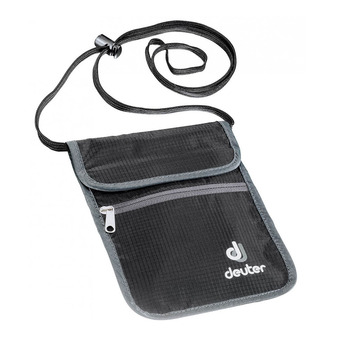 Bandolera mini   SECURITY WALLET II negro/granito