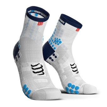 Compressport PRORACING V3 RUN - Socks - white/blue