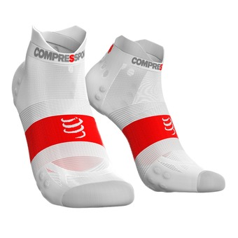 Compressport PRORACING V3 ULTRALIGHT RUN LOW - Socks - white