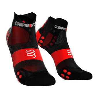 Compressport PRORACING V3 ULTRALIGHT RUN LOW - Socks - black/red