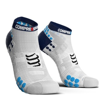 Compressport PRORACING V3 RUN - Chaussettes blanc/bleu