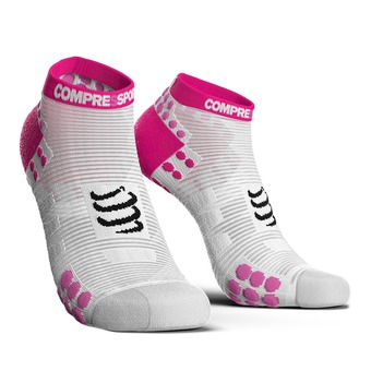 Compressport PRORACING V3 RUN - Calcetines white/pink