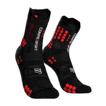 Compressport PRORACING V3 TRAIL - Socks - black/red