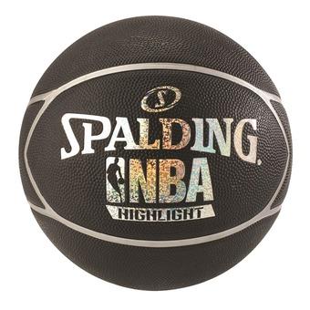 Balón NBA HIGHLIGHT negro/plateado