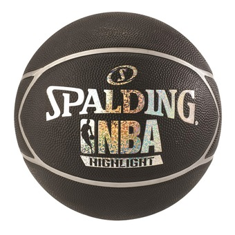 Spalding NBA HIGHLIGHT - Ballon basket noir/argent