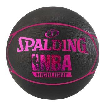 Balón de baloncesto NBA HIGHLIGHT 4HER negro/rosa flúor