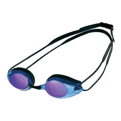 ARENA - TRACKS MIRROR - Swimming Goggles - black/blue multi/black
