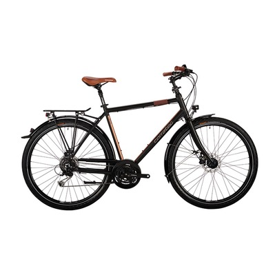 "Bicicleta de trekking 29"" C29ER TREKKING BASE G black soft mat/gray iridium/brown"