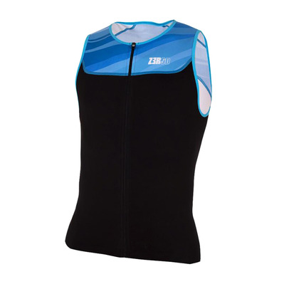 Z3ROD - START TRISINGLET - Maillot trifonction Homme black/atoll